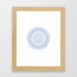 Pattern 1 Blue Framed Art Print