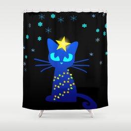 I hate Xmas Cat Shower Curtain
