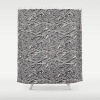 nail polish Shower Curtains featuring Nail by ViconiaMcAliens