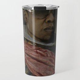 Portrait of Jay Z in Armor Travel Mug