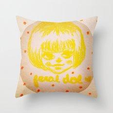 Lemon Meringue Throw Pillow