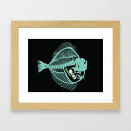 Fish are Friends (Black) Framed Art Print