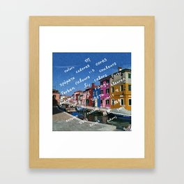 Burano 2 Framed Art Print