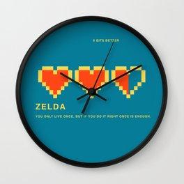 8 BITS BETTER - ZELDA Wall Clock