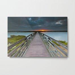 Bolsa Chica Wetlands Sunrise  6/17/14 Metal Print