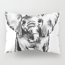 Black and White Elephant Pillow Sham