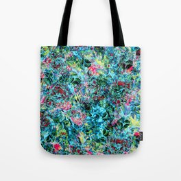 Abstract Floral Chaos Tote Bag