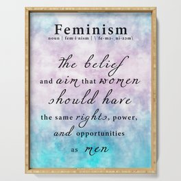 Feminism Definition - Feminist Art Equal Rights Serving Tray