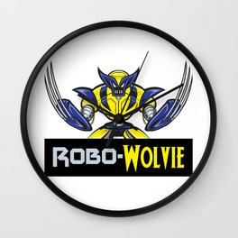 Robo-Wolvie Wall Clock