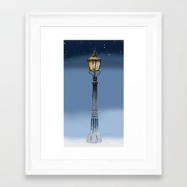 NARNIAN LAMPOST Framed Art Print