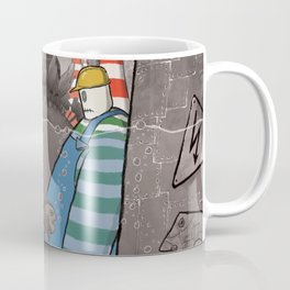 Underwater's (black & white with colors version) Coffee Mug