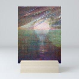 Mediterranean Pink Sunrise over the Emerald Ocean landscape by Mikalojus Konstantinas Ciurlionis Mini Art Print