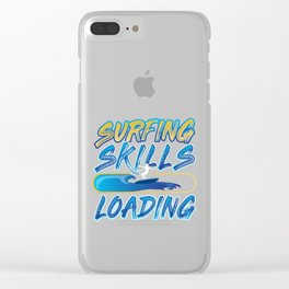 Surfing Skills Loading Clear iPhone Case
