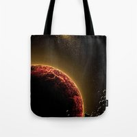 planet Tote Bags featuring Planet by Svetlana Sewell