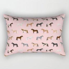horses farm animal pet gifts Rectangular Pillow