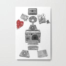 Jx3 Music Series - Musik Robot Metal Print