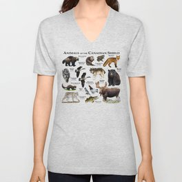 Animals of the Canadian Shield Unisex V-Neck