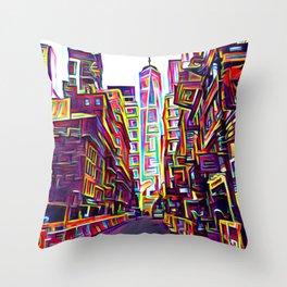 Downtown New York2 Throw Pillow