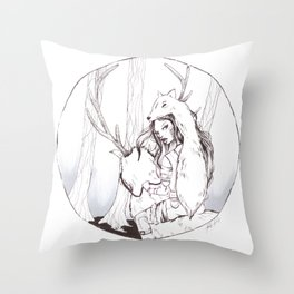 Huntress Throw Pillow