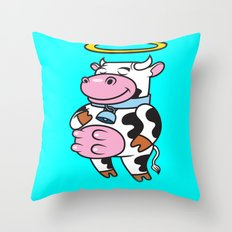 Holy Cow! Throw Pillow