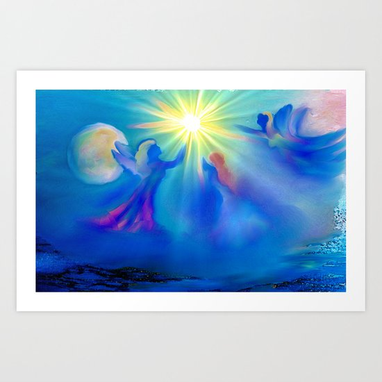 ANGELS OF HEALING Art Print