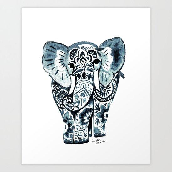 Nadia Elephant Art Print