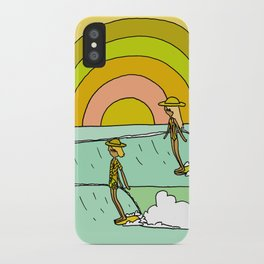 follow the light rainbow sunrise daydream hang 10 iPhone Case