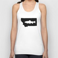 trout Tank Tops featuring Hyalife Trout Montana  by Hyalife