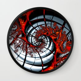 Fractal Art - Burning Web Wall Clock