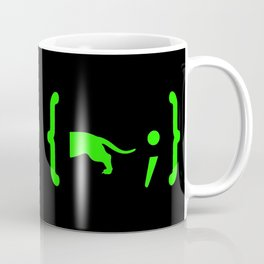 Full Stack Dachshund - Front End / Back End Developer Dog Green Coffee Mug