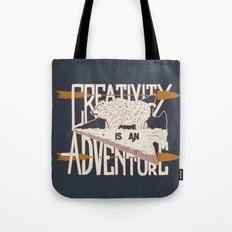 Creativity is an Adventure Tote Bag