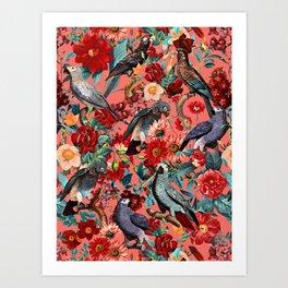 FLORAL AND BIRDS XIX Art Print