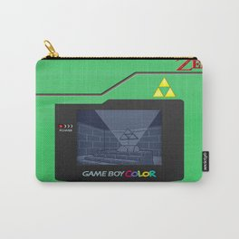 Gameboy Color Zelda Triforce Logo Carry-All Pouch