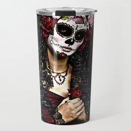 Reina,de los Muertos Travel Mug
