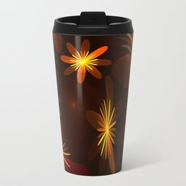 Dancing Flowers Fractal Art Travel Mug