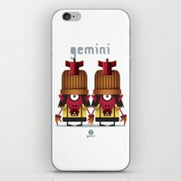 gemini iPhone & iPod Skins featuring GEMINI by Angelo Cerantola