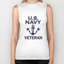 US Navy Veteran Gift Biker Tank