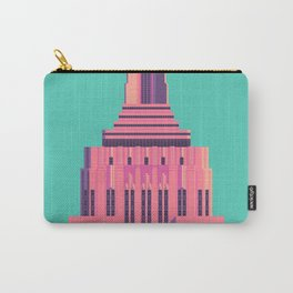 Empire State Building New York Art Deco - Green Carry-All Pouch