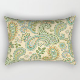Yellow Paisley Rectangular Pillow