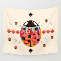 ladybug Wall Tapestries featuring Ladybug by Iceenoodle