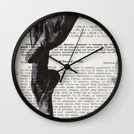 On toes - ink drawing Wall Clock