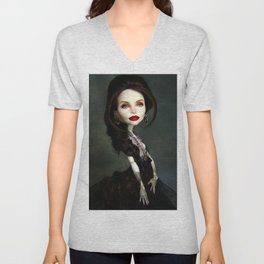Monster Angelina Doll Unisex V-Neck