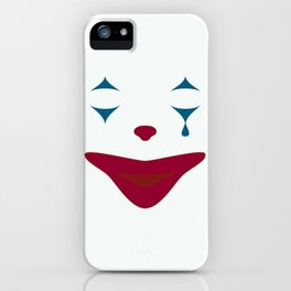 Minimalist Clown Makeup iPhone Case