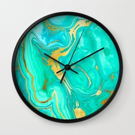 Geode 52 Gold Stone Slab Wall Clock