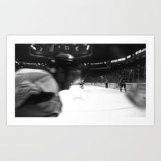 fast hockey Art Print