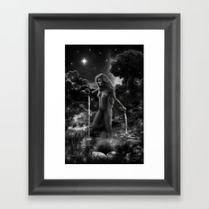 XVII. The Star Tarot Card Illustration Framed Art Print