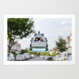 Back to the Lego Art Print