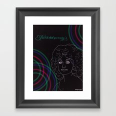Could I Have Your Autograph Framed Art Print