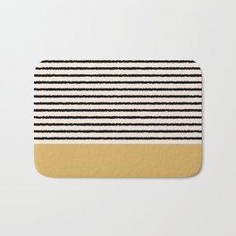 Texture - Black Stripes Gold Bath Mat