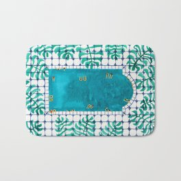 Tropical pool Bath Mat